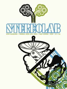 Original silkscreen concert poster for Stereolab at First Avenue in Minneapolis, MN in 2004. 18 x 24 inches on card stock. Artwork by Aesthe...