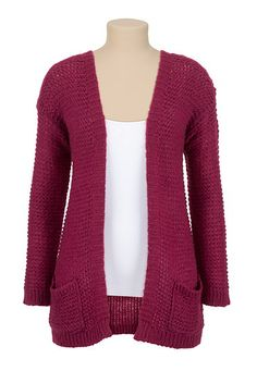 Long Sleeve Open Stitch Cardiwrap (original price, $34) available at #Maurices I have the grey one & it is so cozy!