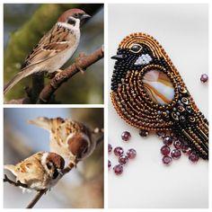Воробушка Вам в ленту . Трунцал, камень агат, бисер, канитель. #handmade #птичкаизбисера #воробушекизбисера #ручнаяработа #подарок #брошь #брошьизбисера #брошьручнойработы #handmade_ru_jewellery