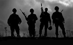 Soldier Silhouettes.