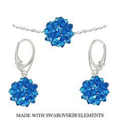 Set z korálkových modrých guličiek Swarovski Elements   Divine Jewellery eshop