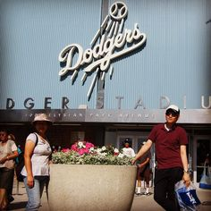 THINK BLUE: @vtolee68 and I were able to take @awesome_jjun to a @dodgers game when he visited. Chavez Ravine California. July 2011. by rdsathene