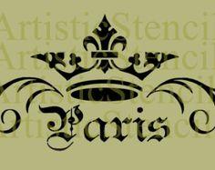 Plus de 1000 id es propos de paris dessins pochoirs sur pinterest tour eiffel de paris - Pochoir shabby chic ...
