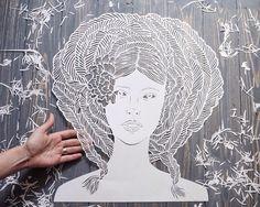 Art Paper Cutting  Maze Large Papercut Original by ArtHeartsShop