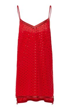 2b6de2fdf2f4 This **Adam Selman** Mini Slip Dress features a V-neckline with an allover  heart print.