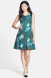Marc New York by Andrew Marc Print Scuba Fait & Flare Dress