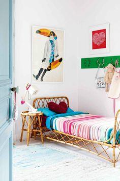 Habitaciones infantiles con camas de mimbre | Decoideas.Net