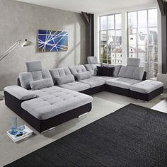Wohnlandschaft Power individuell konfigurierbares Sofa in U-Form modernes Design