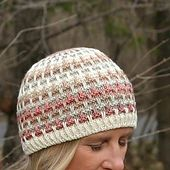 This hat has a reach-out-and-touch-it textured slipstitch worked in as many shades as your heart desires. Use the remnants from your favorite worsted projects together to create a personal palette with a story. There are 6 sizes using worsted weight.