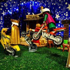 #navidad #belén #playmobil #reyes #moteros