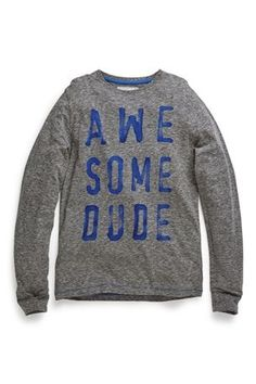 Buy Grey Awesome Dude Long Sleeve Top (3-16yrs) from the Next UK online shop