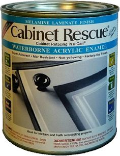 Cabinet Rescue® Waterborne Melamine Laminate Finish  goes on smoothly and dries to a beautiful Factory-Like-Finish. This unique cabinet paint is Self-Priming over most surfaces including Melamine Laminate such as Formica® brand laminate, and the hard, chip resistant properties will add years of life to your cabinets