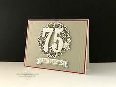 Number of Years, Peaceful Wreath, Large Numbers & Wonderful Wreath Framelits, Vanilla Coaster Board