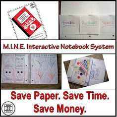 Is your copy paper budget stopping you from using interactive math notebooks (INB) in your classroom? M.I.N.E. just might be the interactive notebook system for you!