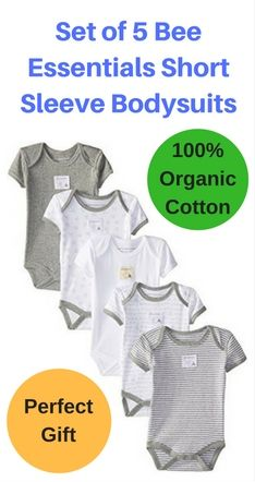 Touched By Nature Baby Organic Cotton Union Suit 2 Pack Elephant