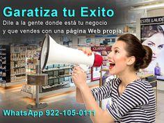 garantiza tu éxito en tu #NEGOCIO, con una Pagina #web llegas a más clientes potenciales, solo estar en redes sociales no basta !! Pide tu pagina web ahora