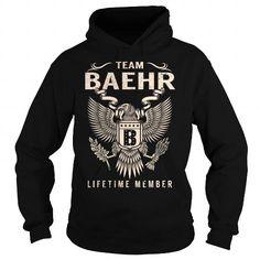 I Love Team BAEHR Lifetime Member - Last Name, Surname T-Shirt Shirts & Tees