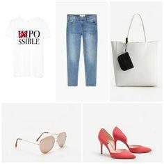 Look del día. Camiseta de Stradivarius Jeans de Mango Bolso de Mango  Gafas de Mango Zapatos de Mango. #lookdeldia #fashion #fashionblogger #instastyle #style #mystyle #instablogger #womanfashion #women #outfitoftheday  #asesoriadeimagen #personalshopper #elegant #mode #moda #mango #stradivarius