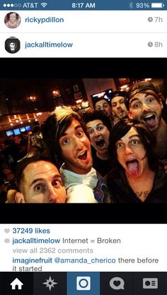 Best selfie ever... Pierce The Veil, All Time Low, and Sleeping With Sirens