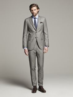 Grey Slim Fit Salt & Pepper Suit Jacket - Mens Slim Fit Suits