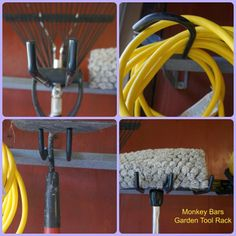 @Lori Lyman Sprucing for Spring with Monkey Bars. Win your own garden tool rack here.