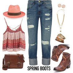 Spring Boots by kimzarad1 on Polyvore  boots at www.pfiwestern.com