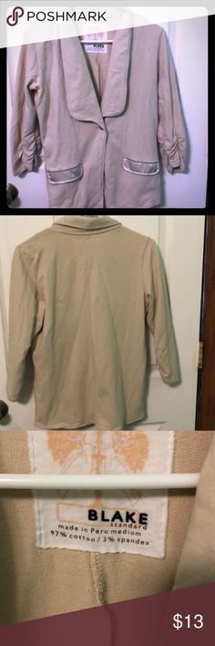 Sweater blazer Really nice fitted soft sweater blazer.  I just haven't worn it really good condition just needs to be ironed or steamed. Will look brand new Blake Jackets & Coats Blazers