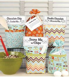 These cute and simple gift sacks are perfect for gift giving
