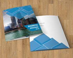 Bifold Corporate Brochure by Template Shop on Creative Market