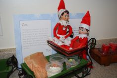 The Elf on the Shelf : Doe & Rase brought stuff to make some Magic Food for their special friends they will be introducing tomorrow