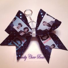 1D One Direction Navy Keychain Small Cheer Bow