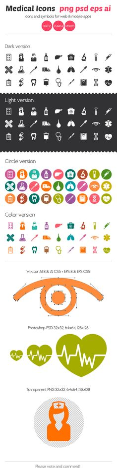 Medical Icons by Ottoson , via Behance