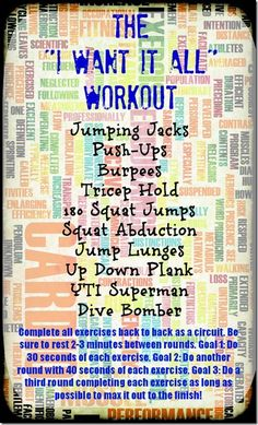 I Want It All Workout