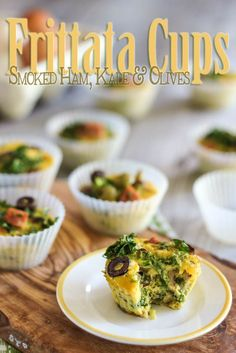Ham Kale and Olive Frittata Cups | by Sonia! The Healthy Foodie