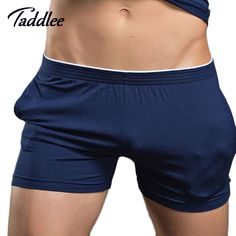 Men's Underwear Boxer Trunks Cotton High Quality Men Underwear Shorts Brand Gay Penis Pouch WJ Man Boxers Home Sleepwear