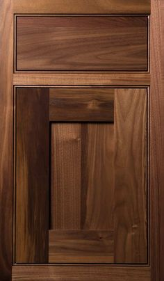 Quaker 3 door done in Walnut natural finish