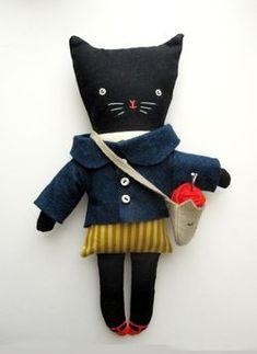 knitting kitty doll by theblackapple. Love it! Looks like she does not currently have any dolls for sale though.