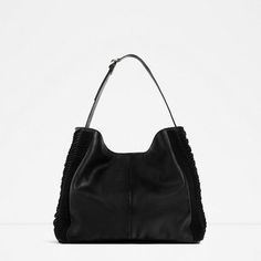 Image 1 of BRAIDED LEATHER SHOULDER BAG from Zara
