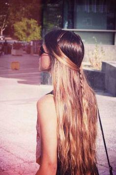 Half up half down with braids