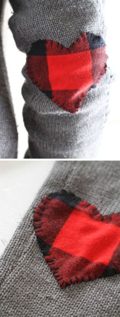 'Wear Your Heart On Your Sleeve: DIY Elbow Patches — Apartment Therapy Tutorials...!' (via Apartment Therapy)