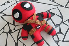 Ready to Ship - JUMBO -  Deadpool - Merc with the Mouth - Geekery Plush