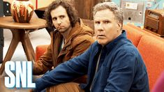 Drama ensues when Brad (Will Ferrell) must choose between going to the movies with David (Kyle Mooney) or watching a movie at home with Brian (Beck Bennett). Kyle Mooney, Will Ferrell, Feel Good Videos, Saturday Night Live, Couple Photos, Movies, House, Fall, Films