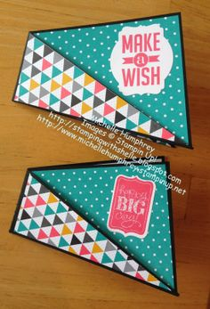Stamping with Shelle -- Twist Fun Fold Card (closed)   #stampinup