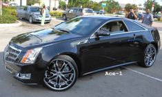 "rims on cadillac cts | Black 2011 Cadillac CTS Coupe on 22"" KURV rims done by C2C Customs"