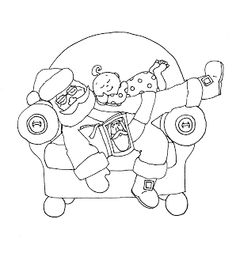 Free Dearie Dolls Digi Stamps: Sleeping Santa....inspired by the great pics of babies and Santa sleeping....