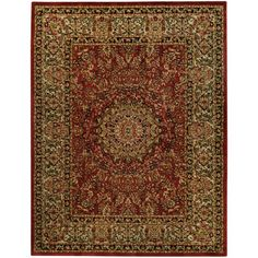 Pasha Maxy Home Medallion Traditional Red Area Rug