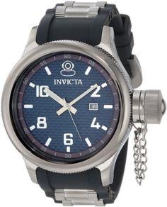 Invicta Men's 0554 Russian Diver Collection Carbon Fiber Black Rubber Watch Invicta. $89.99