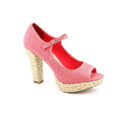 American Rag Womens Kali PeepToe Espadrille Platform Heels in Red Size 65 * Trust me, this is great! Click the image.