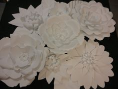 White Paper Flower Wall 4ft x 4ft   Extra Large Paper Flowers Decoration Photo Backdrop Prop Valentine's Day Decor