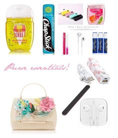 """""""Purse essentials"""" by chiclifewstyle on Polyvore featuring Delpozo, Chapstick, Forever 21 and Zodaca"""